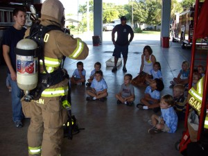 Ocean Breeze Elementary visits the Fire Station during Fire Prevention Week 2010.