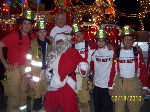 Santa visits IHB on Pumper 56 Dec 2010