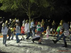 Christmas in the Park 2012, Santa arrives in IHB.